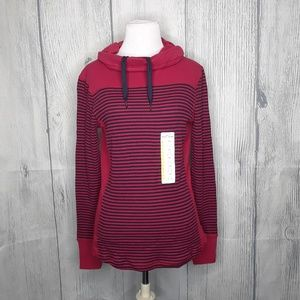 Cowl Neck Eddie Bauer Stripe Sweater, NWT, M